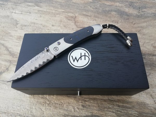 WILLIAM HENRY KNIVES THE BLUES Monarch B05 Damastmesser Tannenzapfen